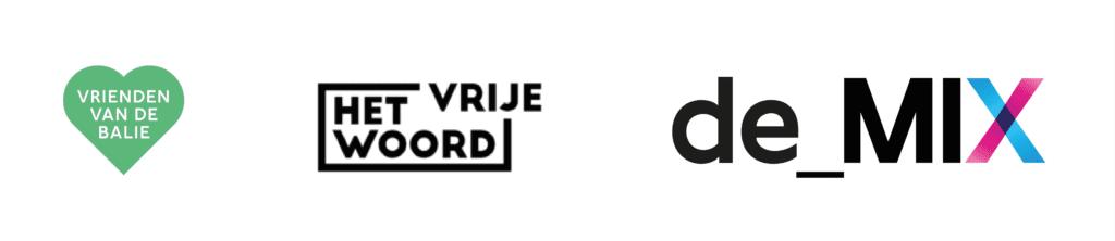 logo's van De Balie lidmaatschappen