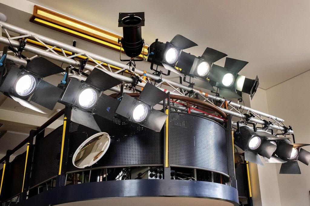 professionele lampen in Studio De Balie